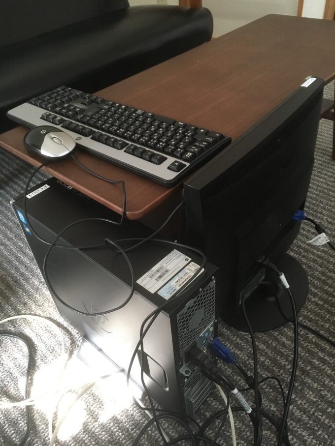 切り替えるwindows7のハードディスク、キーボード、モニター
